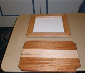 BREAD BOARD AND FRAME MADE BY JOHN HEREGA'S GRANDSON.jpg